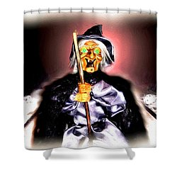 Shower Curtain featuring the digital art Witch by Daniel Janda