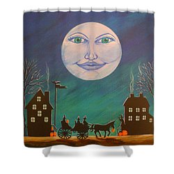 Witch Moon Shower Curtain by Christine Altmann