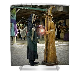 Witch Vs Wizard Shower Curtain by Brian Wallace