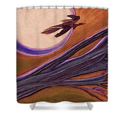 Witches' Branch Purple Shower Curtain by First Star Art