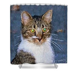 With Eyes On Shower Curtain