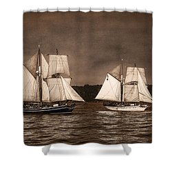 With Full Sails Shower Curtain by Dale Kincaid