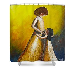 Shower Curtain featuring the painting With Her by Jacqueline Athmann