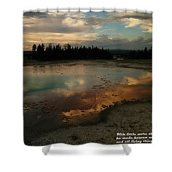 With Little More Shower Curtain by Jeff Swan