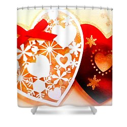 ...with Love Shower Curtain by The Creative Minds Art and Photography