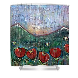 With Or Without You Shower Curtain
