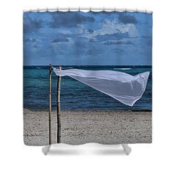 With The Wind Shower Curtain