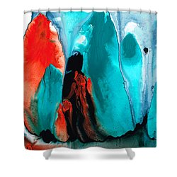 With You Always - Spiritual Painting Art Shower Curtain by Sharon Cummings