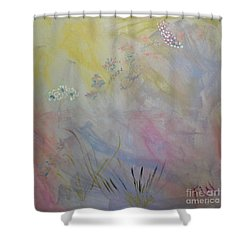 Shower Curtain featuring the painting Withered Kansas Summer by PainterArtist FIN
