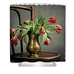 Withered Tulips Shower Curtain