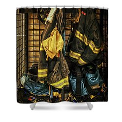 Shower Curtain featuring the photograph Within A Brotherhood You Never Walk Alone by Debra Fedchin