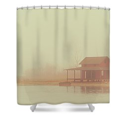 Within The Fog Shower Curtain by Karol Livote