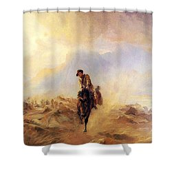Within The Sounds Of The Guns Shower Curtain by Elizabeth Thompson