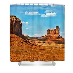Shower Curtain featuring the photograph Witnesses Of Time by Hanny Heim