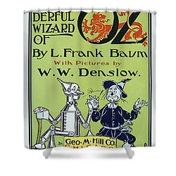 Wizard Of Oz Book Cover  1900 Shower Curtain by Daniel Hagerman