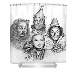 Wizard Of Oz Shower Curtain by Greg Joens