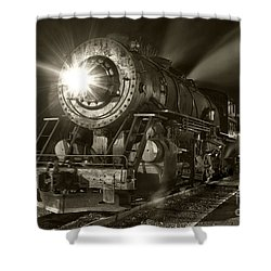 Wmsr Engine 734 At The Frostburg Depot Shower Curtain by Jeannette Hunt