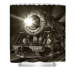 Wmsr Engine 734 At The Frostburg Depot Shower Curtain