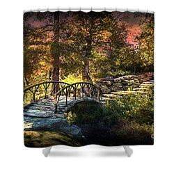 Woddard Park Bridge II Shower Curtain by Tamyra Ayles