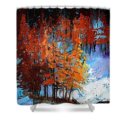 Wolf Country Shower Curtain by Nancy Merkle