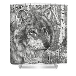 Wolf Gaze Shower Curtain