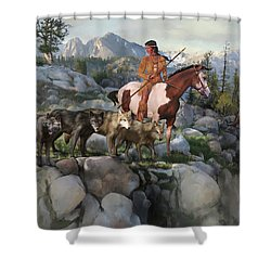 Wolf Maiden Shower Curtain by Rob Corsetti