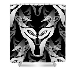 Wolf Mask Shower Curtain