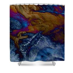Shower Curtain featuring the painting Wolf by Mike Breau