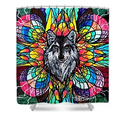 Wolf Shower Curtain by Teal Eye  Print Store