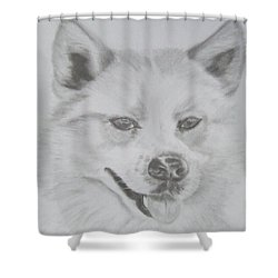 Wolf The Husky Shower Curtain