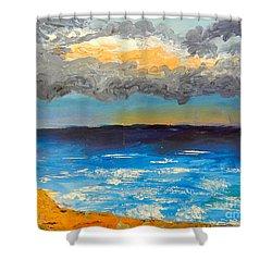 Wollongong Beach Shower Curtain by Pamela  Meredith