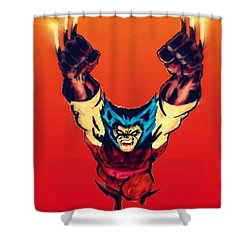 Wolverine  Shower Curtain by Justin Moore