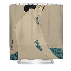 Woman After A Bath Taisho Era Shower Curtain by Goyo Hashiguchi
