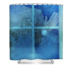 Woman At A Window Shower Curtain by Jill Battaglia