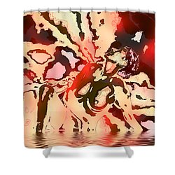 Woman In Red Shower Curtain by Kurt Van Wagner