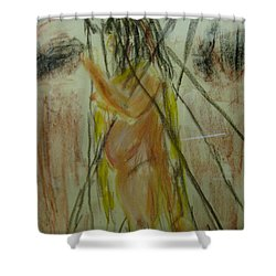 Woman In Sticks Shower Curtain
