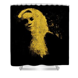 Woman In The Dark Shower Curtain by Pepita Selles
