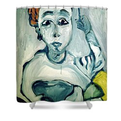 Woman Smoking Shower Curtain