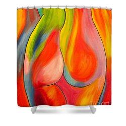 Woman Shower Curtain by Veikko Suikkanen