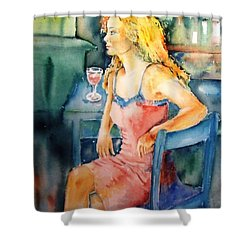 Woman Waiting  Shower Curtain by Trudi Doyle