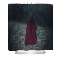 Woman With Basket Shower Curtain by Joana Kruse