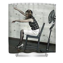 Woman With Fan Shower Curtain by Joana Kruse