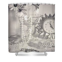 Womans Dressing Table Shower Curtain by Amanda Elwell