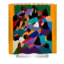 Women Lifting Their Voices Shower Curtain