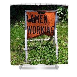 Shower Curtain featuring the photograph Women Working by Ed Weidman