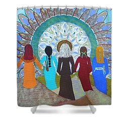 Women's Circle Mandala Shower Curtain