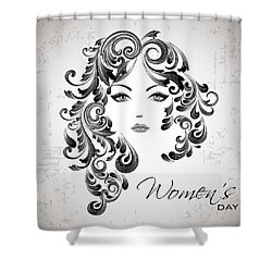 Women's Day Usa Shower Curtain by Stanley Mathis