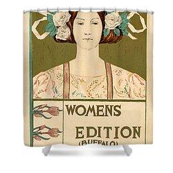 Women's Edition Buffalo Courier Shower Curtain by Gianfranco Weiss