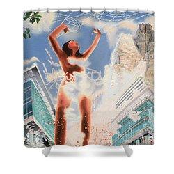 Wonder Shower Curtain by Dave Martsolf
