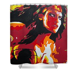 Wonder Woman - Sister Inspired Shower Curtain by Kelly Hartman